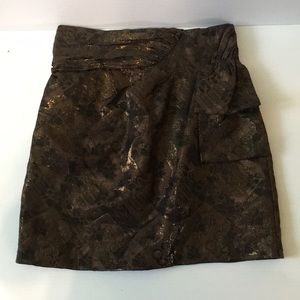 Mini Skirt . Sz Small Green with gold